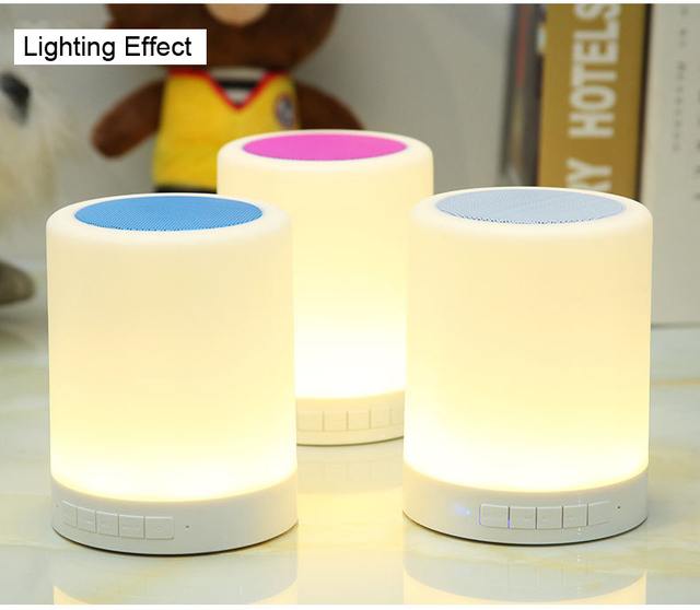 12 456 Touch smart LED lamp with bluetooth speaker touch lamp ...