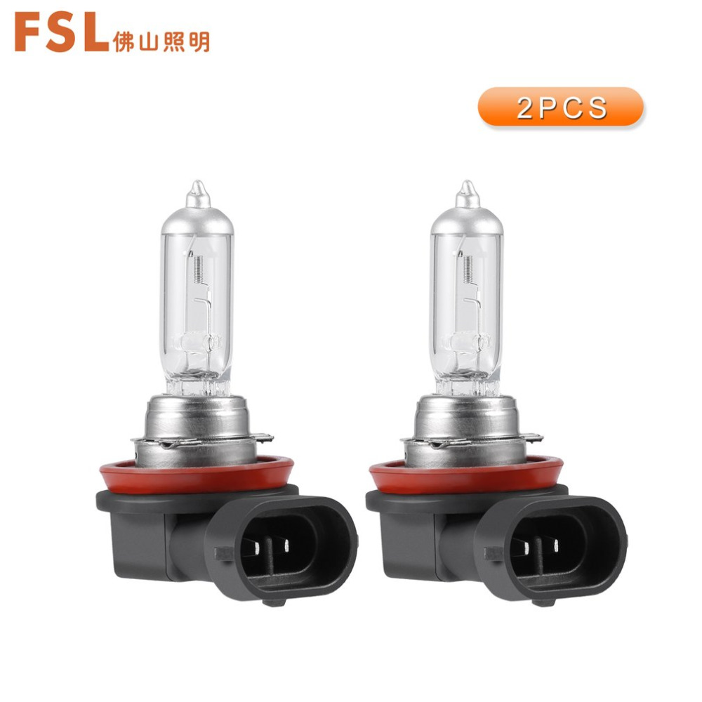 FSL 12V H11 55W 3000K Yellow Car Light Halogen Lamp Bulb Car Styling Headlight Fog Lights Auto Car Lamp Halogen Bulbs 2pcs auto right left fog light lamp car styling h11 halogen light 12v 55w bulb assembly for ford fusion estate ju  2002 2008