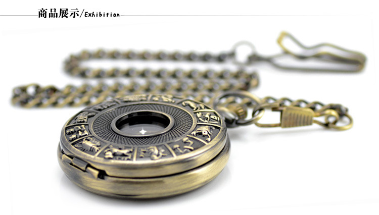 Retro oco esqueleto automático relógio de bolso