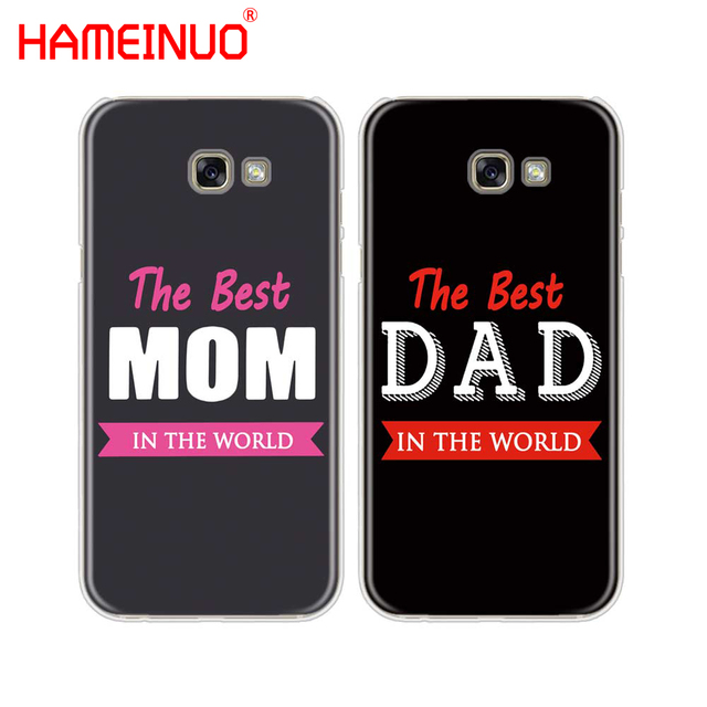check out 0d528 8140a US $1.99 32% OFF|HAMEINUO the best MOM DAD cell phone case cover for  Samsung Galaxy A3 A310 A5 A510 A7 A8 A9 2016 2017 2018-in Half-wrapped Case  from ...