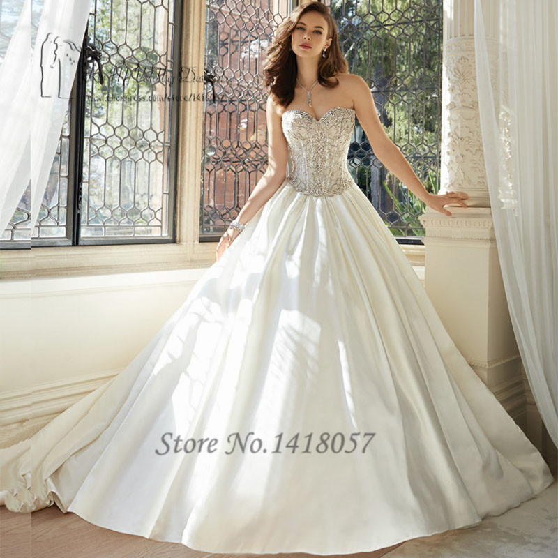 Wedding Dressing Gowns Personalised: Luxury Wedding Dress 2016 Crystal Bridal Dresses Ball Gown