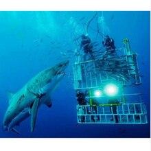 1pc CREE 2000 lumen xml T6 waterproof LED Diving flashlight submersible led light underwater 50meters hand lamp for fishing