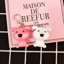 New 2019 Anime Figure Dog Keychain Hand-painted Craft Bull Terrier PVC Vinyl Animal Trinkets for Car Keychai