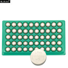 MJKAA Hot Sale 50pcs LR44 357A A76 303 AG13 SR44SW SP76 L1154 RW82 RW42 Alkaline Button Cell Battery Long Lasting(China)
