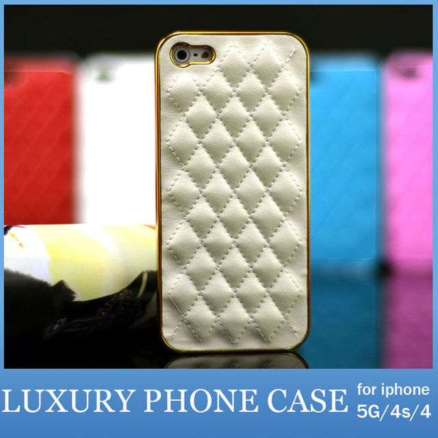 Luxury Case For Apple iPhone 5 4S 4 Cell Phone PU Leather Cover Shell For iPhone5s 5G