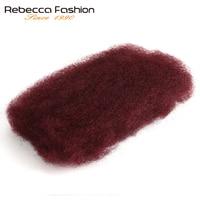 Rebecca Brazilian Remy Afro kinky Curly Bulk Human Hair For Braiding 1 Bundle 50g/pc Natural Color #2 #4 #30 #99j #27Braids Hair