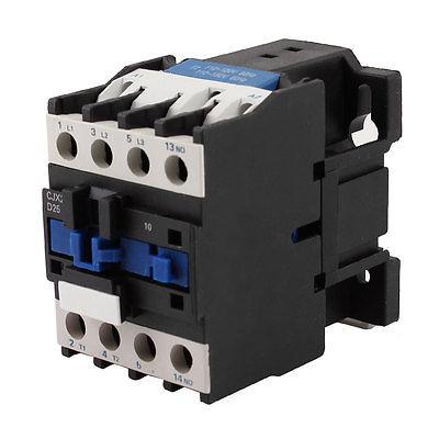 цена на CJX2-2510 110V Coil 3 Poles 3P NO 35mm DIN Rail Mounting DIN Rail AC Contactor