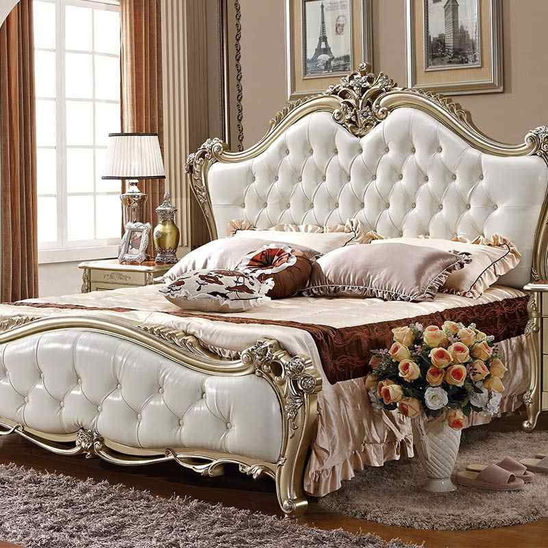 China Furniture In Pakistan Solid Queen Size Wood Bed Ivory White Bedroom Furniture Bedroom Sets Aliexpress