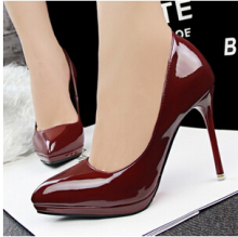 Freeshipping European Fashion OL Business Consice Dress Shoes Thin High Heel Point Toe Pumps Evening Shoes ML2047