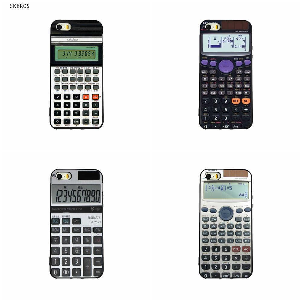 SKEROS Retro Calculator 2 Fashion Phone Soft Cover For Apple Iphone X 5 5S  Se 6 6S 7 8 6 Plus 6S Plus 7 Plus 8 Plus #ta35