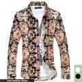 Camisa floral 2016 new men manga comprida casual shirt black white além de camisas de tamanho quintal grande tamanho 6xl 5xl 4xl camisetas hombre