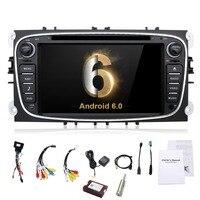 2 din Android 6.0 Quad Core Car DVD Player GPS Navi đối với Ford Focus Mondeo Galaxy với Âm Thanh Đài Phát Thanh Stereo Đơn Vị Đứng Đầu Miễn Phí Canbus