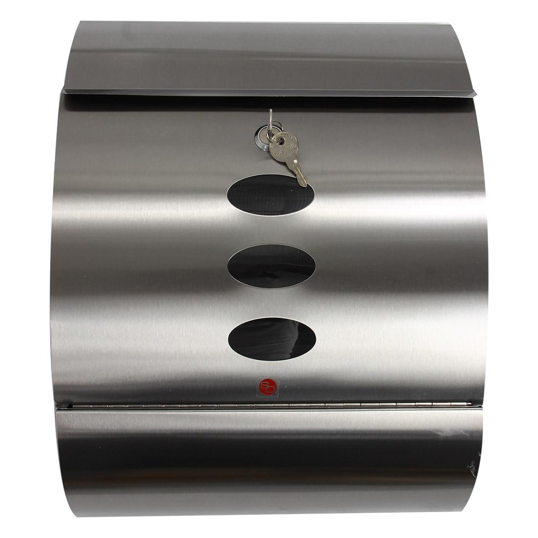 Mailbox stainless steel locking mail box letterbox postal box modern - Stainless Steel Mailbox