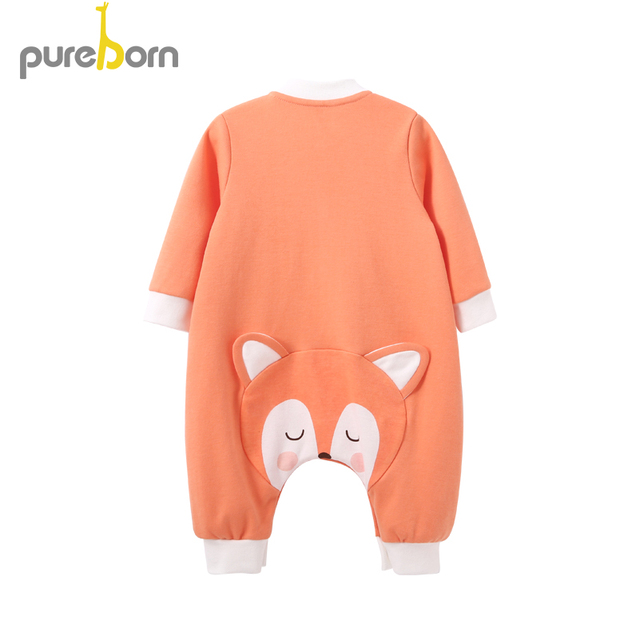Pureborn Cotton Clothing for Newborns Baby Rompers Cartoon Baby Clothes One Piece Gift Costume for Girls Toldder Jumpsuit