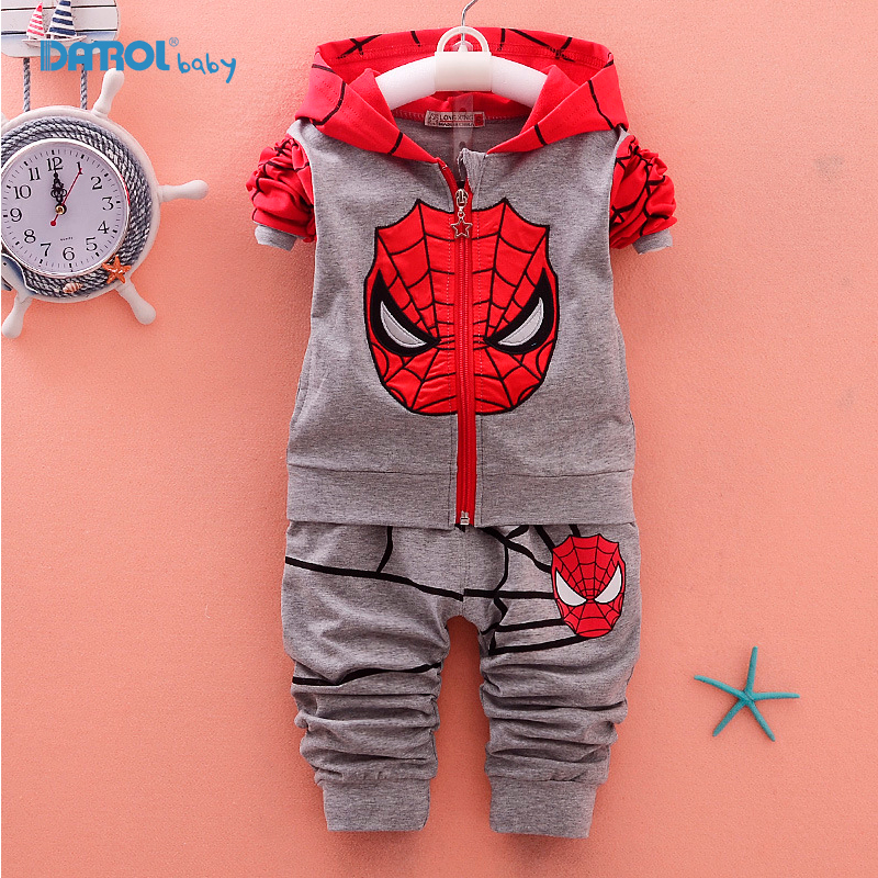 2 Piece/Set Spiderman Baby Boy Clothing Sets Cotton Sport Suit for Boys Clothes Cartoon Kids Clothes Set Long Suit boys TZ003 2017 new boys clothing set camouflage 3 9t boy sports suits kids clothes suit cotton boys tracksuit teenage costume long sleeve