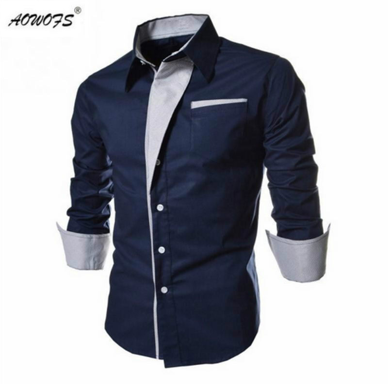 2017 New Arrival Men Shirt Classic Brand Clothing Long ...