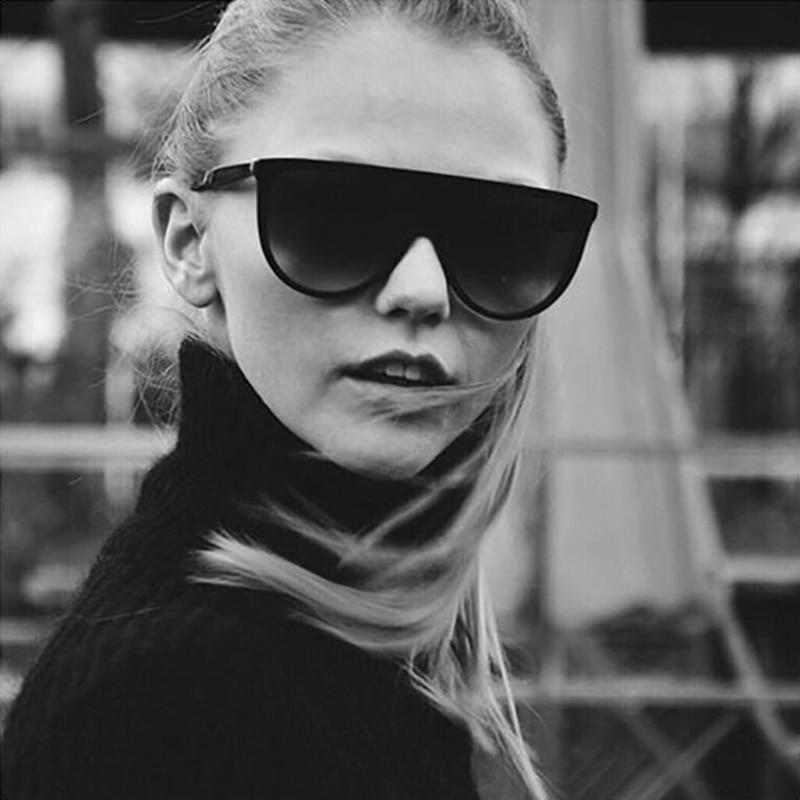 ROYAL GIRL 2018 Negabarīta saulesbrilles sievietēm Vintage acetāta rāmja plakana augšējā plānā ēnu saulesbrilles vīriešiem Oculos UV400 ss050
