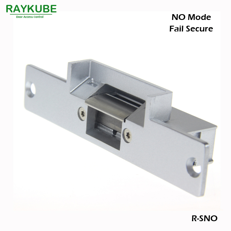 RAYKUBE Electric Strike Door Lock For Access Control System Fail Secure R-SNO