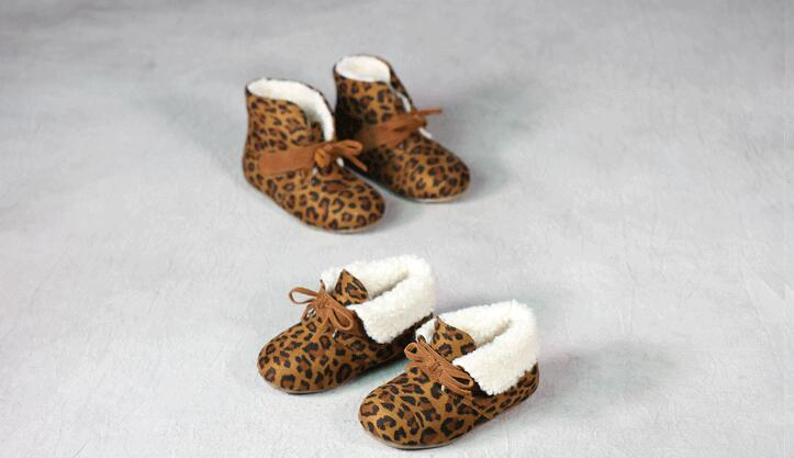 2016 Super comfortable child boots girls soft bottom Leopard boots girls baby kids cotto ...