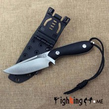 Bolte D2 .60HRC high hardness sharp knife handmade sanding, drawing DEC tool camping Hunting knife