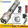 Самообороны LED фонарики Cree XM-L T6 4000LM Аккумуляторная Факел Лампы мощный Фонарь Тактический Аварийного велосипед держатель