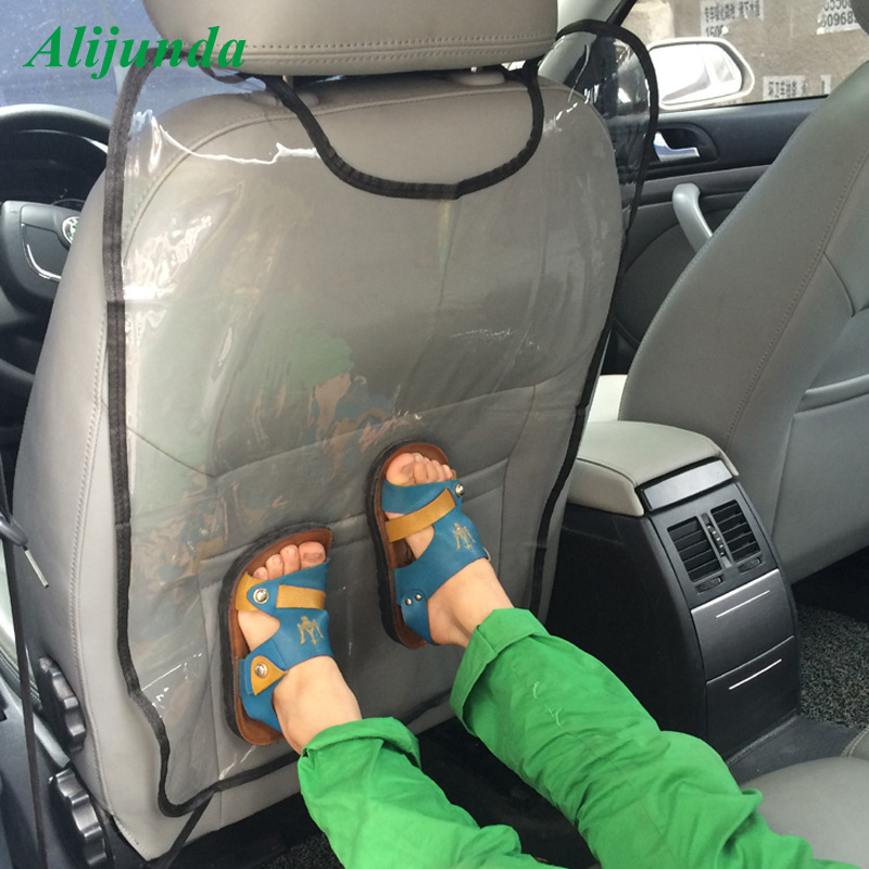 Прозрачный пластмассовый для автомобильного сидения автомобиля заднего протектор автомобиля ребенка анти-удар крышка аксессуары для Mazda ...