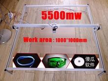 5500 mw laser DIY máquina de grabado plotter de corte de 1 metros cuadrados de área grande máquina de marcado portátil