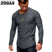 ZOGAA Brand New Spring Fashion O-Neck Slim Fit Streetwear Long Sleeve T Shirt Men Casual Mens T-Shirt Solid Shirts