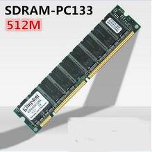 Memória ram de desktop sdram, 512mb pc133 133mhz 168pin dimm não ecc, memória ram de baixa densidade frete grátis