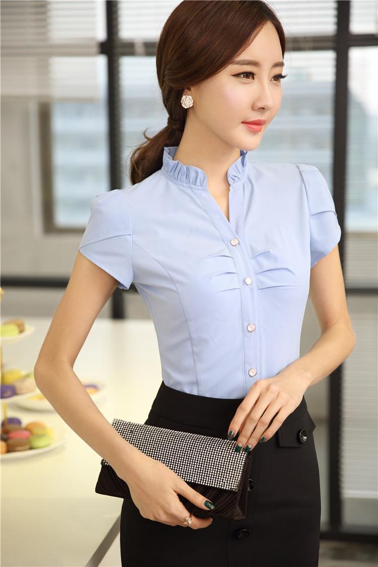 Moda elegante de la gasa de la Blusa para las damas