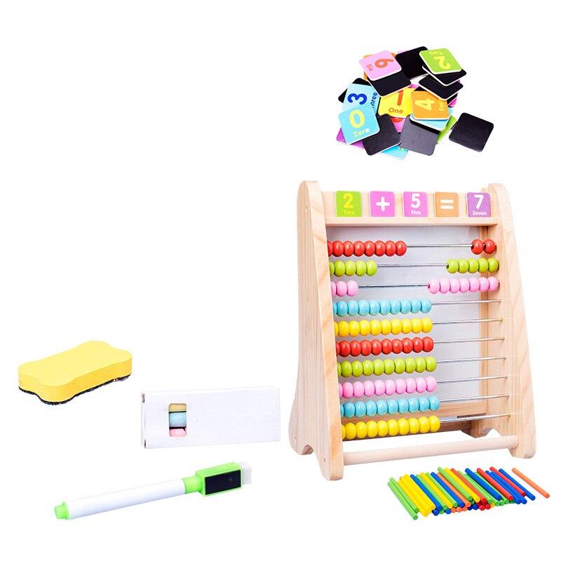 Dla dzieci zabawki dla dzieci drewniane zabawki zabawki matematyki Abacus wielofunkcyjny arytmetyczne tablica do pisania obliczanie rama zabawki edukacyjne dla dzieci