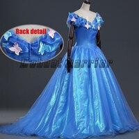 2018 New Cinderella Princess adults cosplay costume cinderella blue fancy dress Custom made
