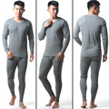 2016 Hot Winter Mens cotton V-neck Warm Thermal Underwear Mens Long Johns Sets comfortable Long Johns For Man 4 colors