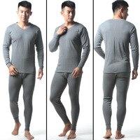 2016 Hot Winter Mens Cotton V Neck Warm Thermal Underwear Mens Long Johns Sets Comfortable Long