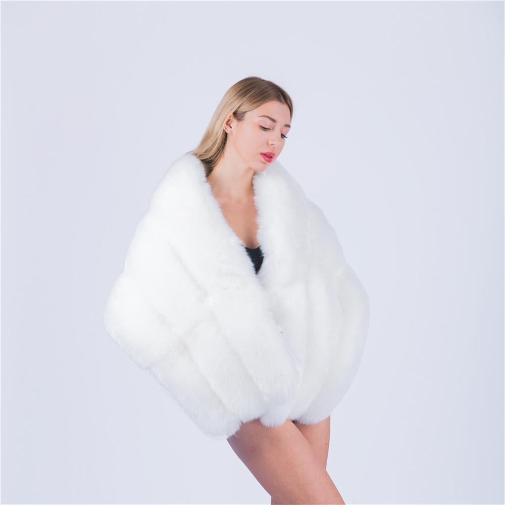 Jinjin. QC Winter Faux Pelzmäntel luxus fuchspelz nachahmung nerz ...
