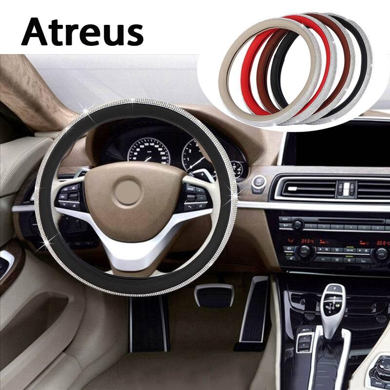 Couvre-volant de voiture diamant Atreus jantes style authentique pour Nissan qashqai Citroen c4 c5 c3 Chevrolet cruze aveo Peugeot