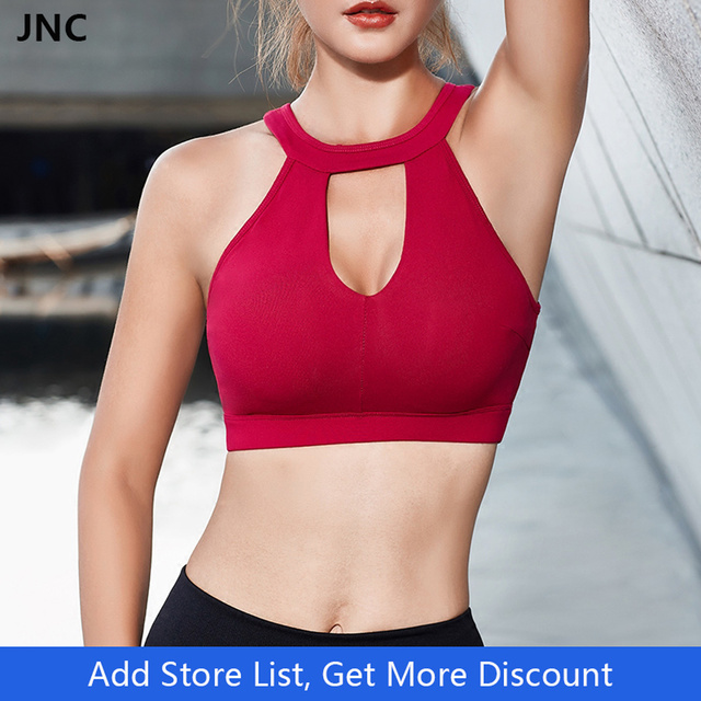 f517090c66111 Sexy White Yoga Bra Sports Bra for Running Gym Fitness Athletic Bras Padded  Push Up Tank Tops For Girls Underwear Hollow out Bra