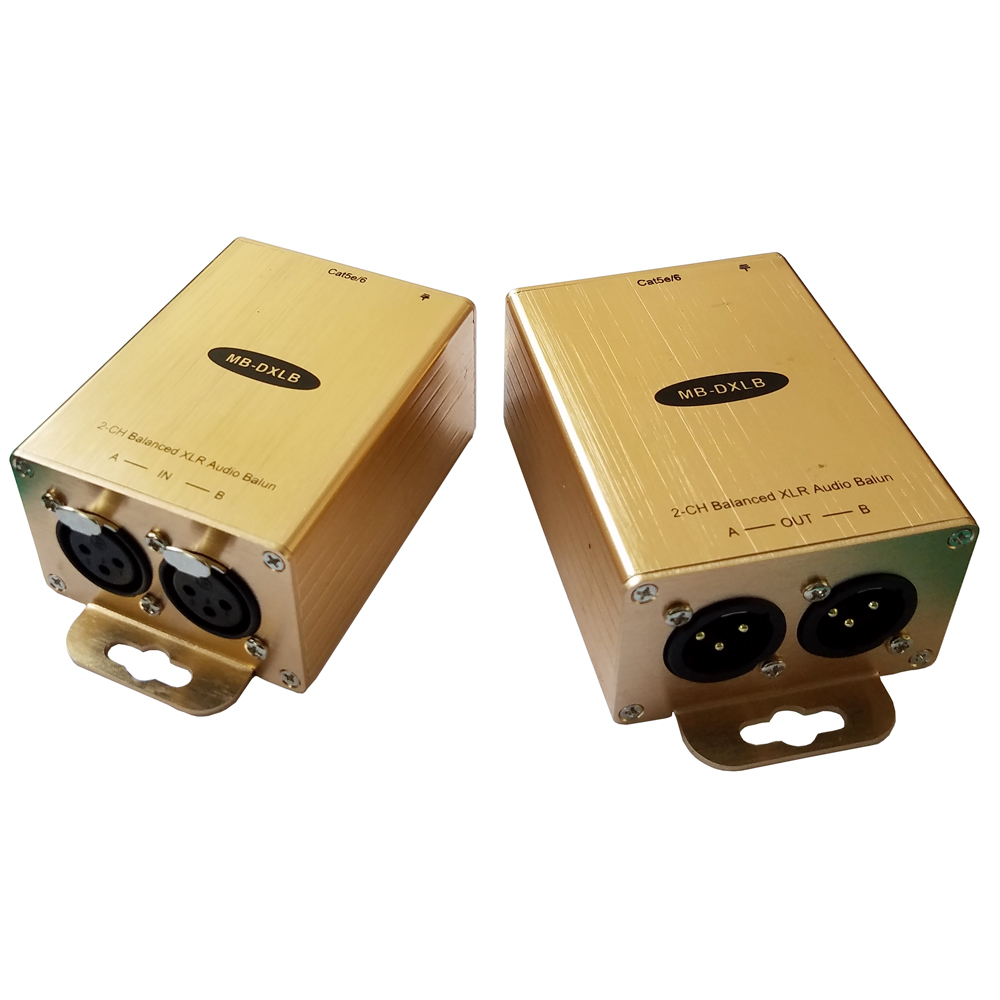 US $49 56 16% OFF|Cat5 Balanced Audio Extender XLR Audio Balun AES Analog  Audio Over Cat5-in Amplifier from Consumer Electronics on Aliexpress com |
