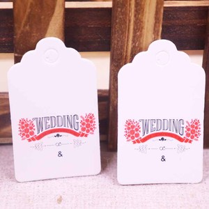 Size:3x5cm paper cardboard white/ kraft tags 100PCS /lot for gift box and DIY Gift Tags for wedding and love