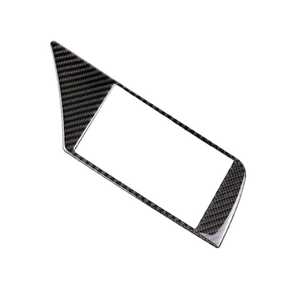 פלאזמה Carbon Fiber ניווט לרכב מסך מסגרת כיסוי מדבקה עבור אאודי A4 B8 09-16 (4)