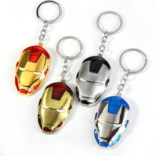 2019.NEW Metal Superhero Key Chain lovers' Trinket Key Chain V for Vendetta Iron Man Key Ring Jewelry Souvenirs(China)