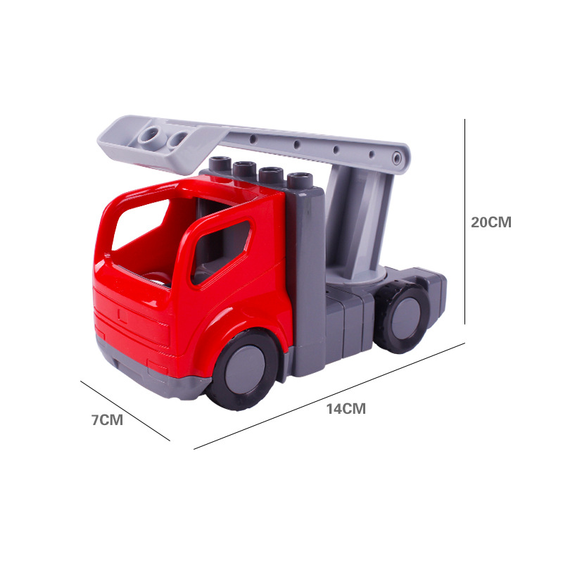 Big SIze Building Blocks Accessory City Bus Truck Aircraft Transport Fire Truck Brick Model Compatible Duploe Toys for children (11)