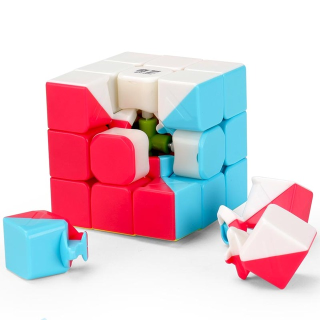 Brand New Qiyi Warrior W 5.7cm 3x3x3 Mofangge Cube Puzzle Sticker Learning Education Cubo Magico Toys For Children