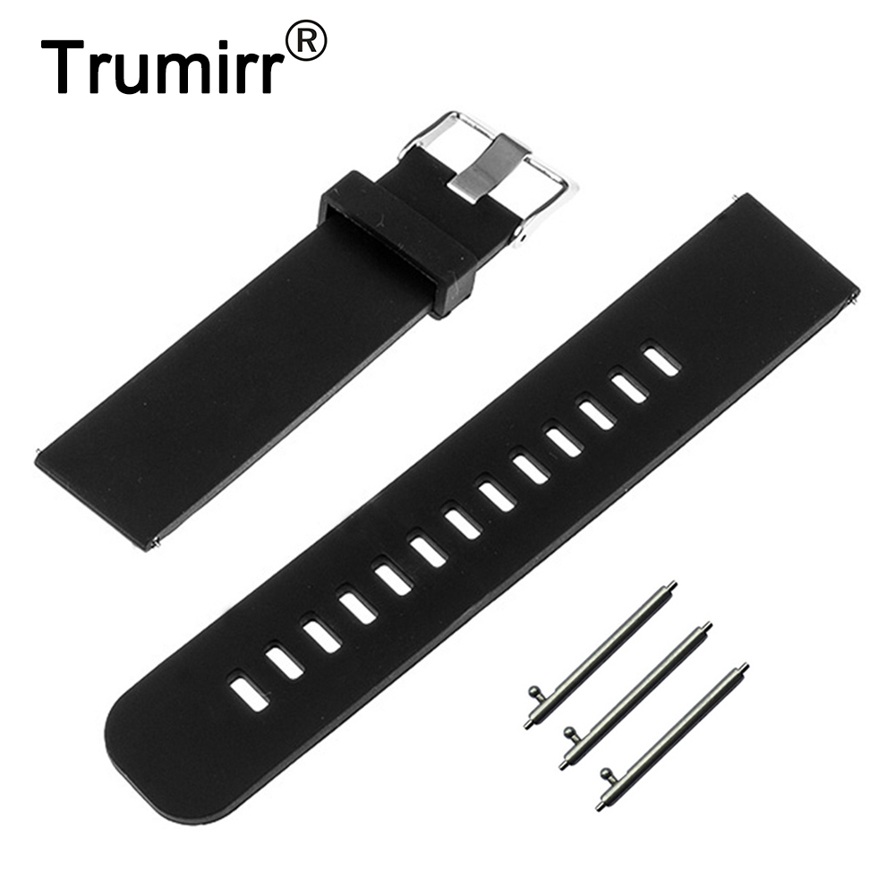 18mm 19mm 20mm 21mm 22mm Silicone Rubber Watch Band + Tool for Fossil Watchband Quick Release Strap Wrist Belt Bracelet silicone rubber watchband quick release watch band 17mm 18mm 19mm 20mm 21mm 22mm universal strap wrist bracelet black blue red