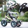 Alta Calidad de la manera Niño Niños Triciclo multifuncional 1-5 Años de Edad Del Bebé Cochecito 3 Ruedas Bebé Portátil Bicicleta coche