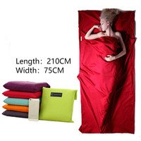 Adult Ultralight Sleeping Bag Travel Hotel Sleeping Bag Liner Portable Folding Camping Hiking Bag Avoid Dirt Washable