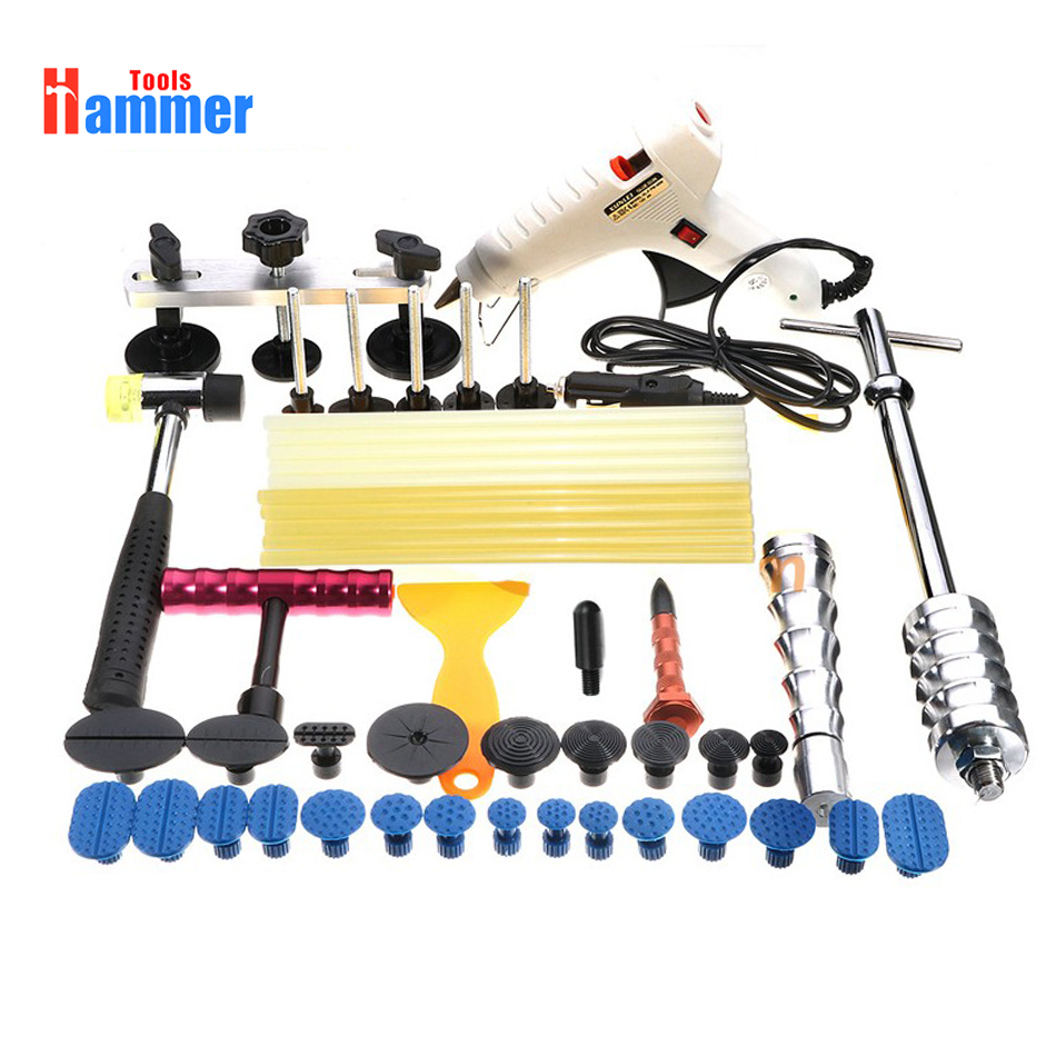 Complete Paintless Hail Repair PDR KING Dent Lifter Puller Ding Removal Tools Kit