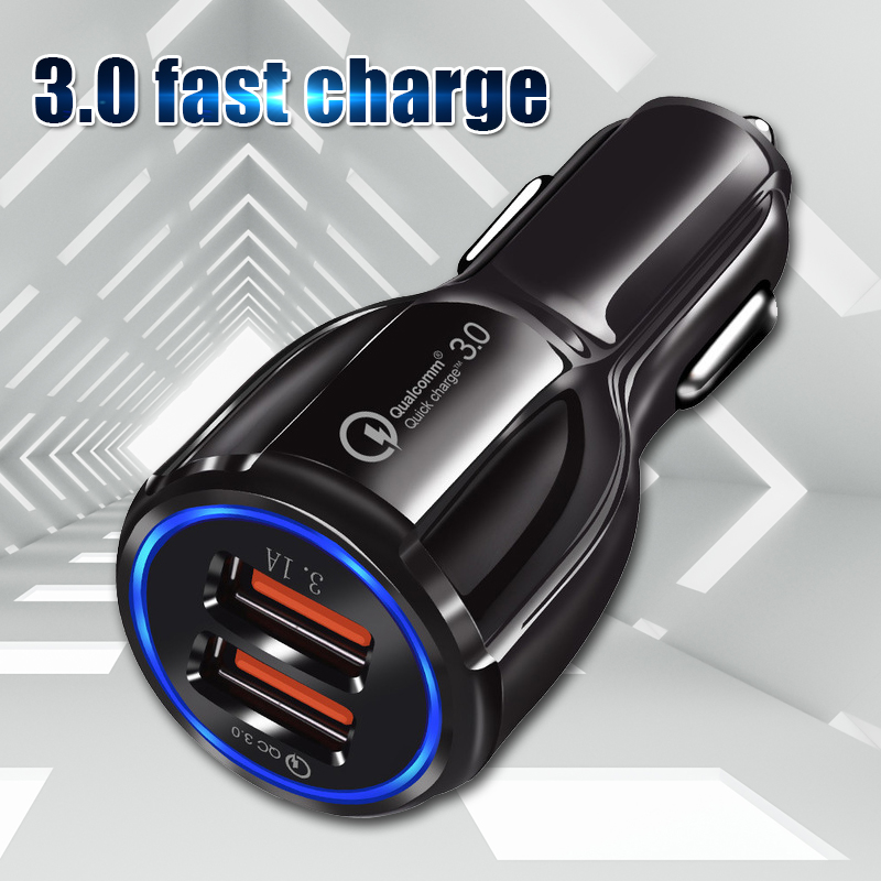 OLAF 3A Quick Charge 3.0 USB Car Charger for Xiaomi Mi <font><b>Huawei</b></font> <font><b>Supercharge</b></font> SCP QC3.0 Fast USB Car Phone Fast Charging Adapter image