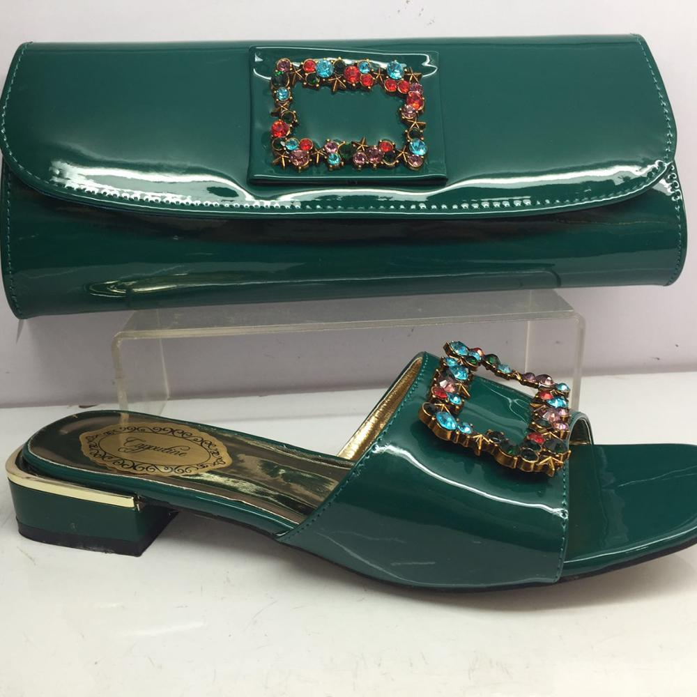 Wondeful green set matching shoes and handbag set with rhinestones GY32 heel height 3cmWondeful green set matching shoes and handbag set with rhinestones GY32 heel height 3cm