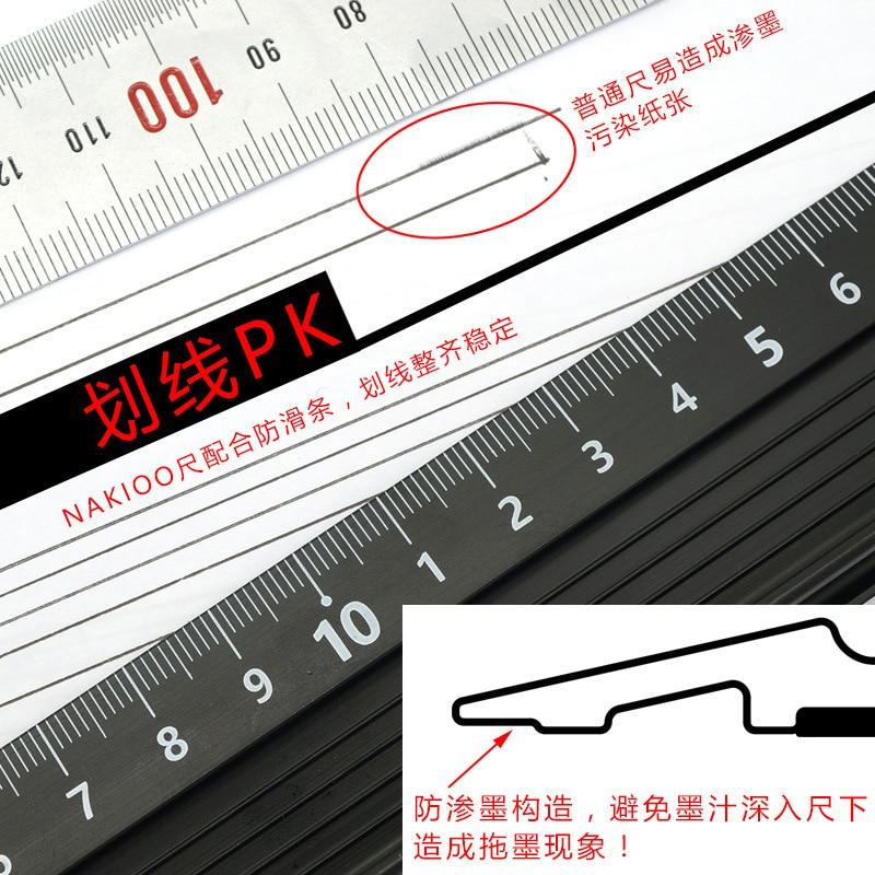 Advanced Aluminum Alloy Ruler, Multifunctional Student Cutting Protection Art Anti Slip Drawing Tool #4
